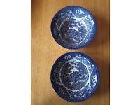 2 detailed pretty bowls