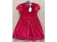 STUNNING XMAS DRESS RED VELVET 7-8 YEARS CB21 COLLECT