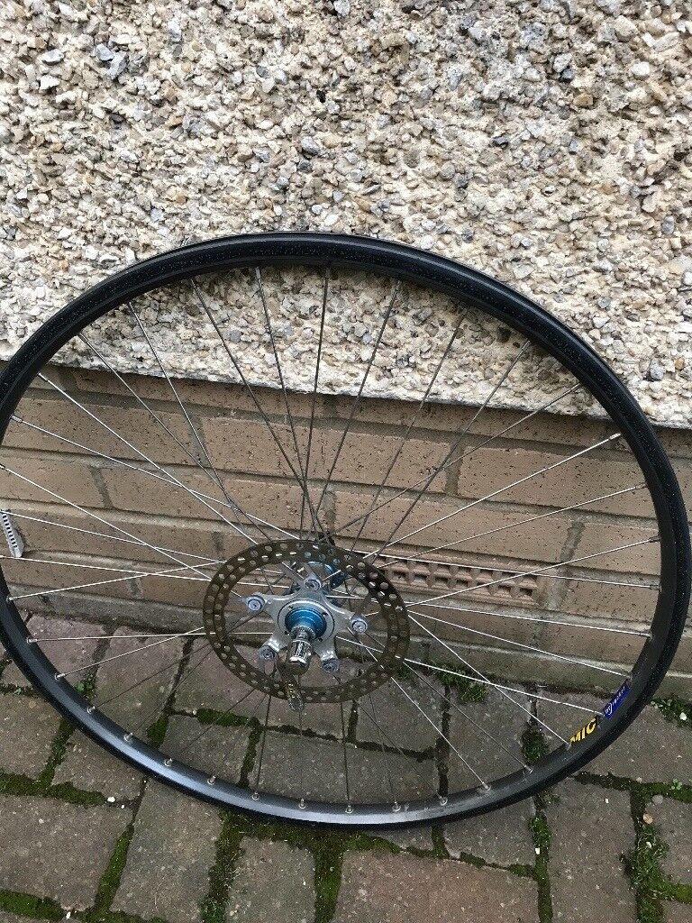 Mavic front disc wheel with a hope hub 26!inch black / grey rim
