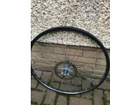 Mavic front disc wheel with a hope hub 26!inch black / grey rim