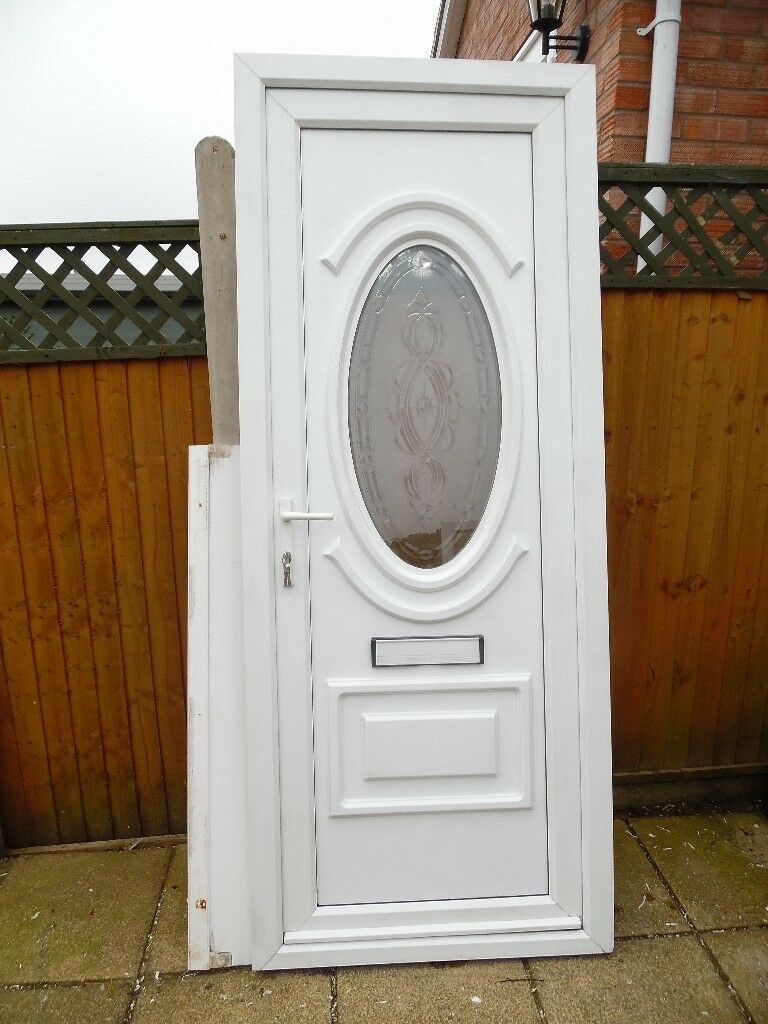 Attractive rahaul white upvc double glazed tall front door - Upvc double front exterior doors ...