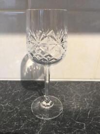 Set of 6 crystal wine glasses