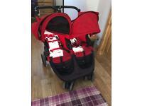 Britax B Agile Double Pushchair Stroller Red