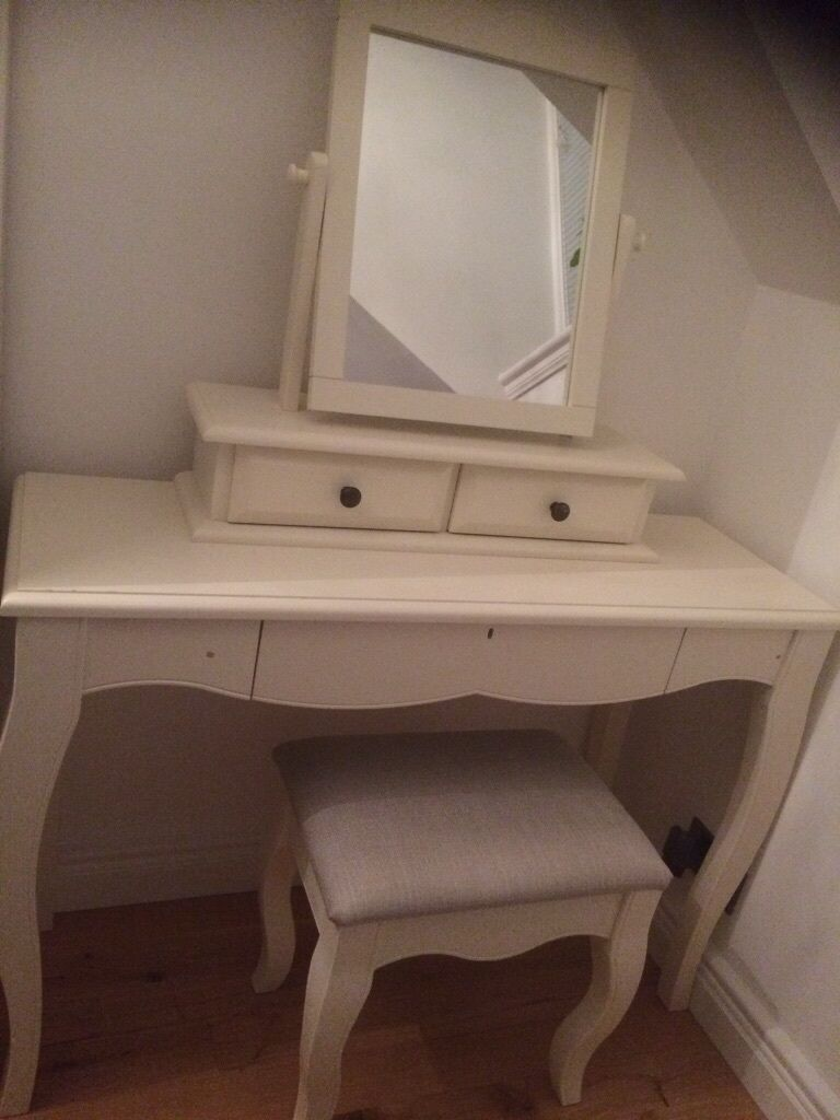 Next Isabella Ivory Dressing Table Set & Separate Mirror With ...