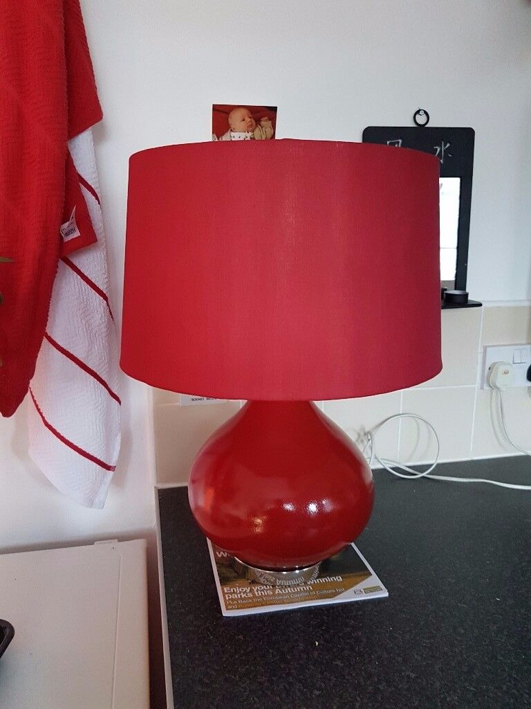 Large red table lamp in bulwell nottinghamshire gumtree large red table lamp geotapseo Gallery