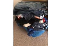 Large bag of charity clothes womens mens childrens