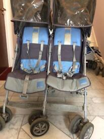 Twin maclaren stroller in the good working condition