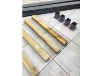 Posts 100mm x 100mm x 1200mm high for decking areas or fences. 4no £5 each