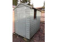 6x4 apex shiplap garden shed - painted in Cuprinol