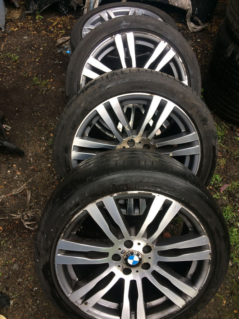 bmw e70 x5 msport 20 inch alloy wheel set x4 with tyres for sale or fitted call thanks