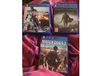 3 PS4 Games For £40 Or £15 Each