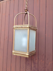 Antique hanging hall or vestibule lantern