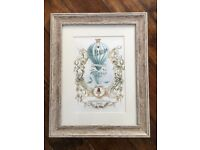 Three stunning framed shabby chic French pictures