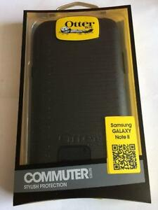 Samsung Galaxy Note 2 otterbox commuter case Black + screen protector