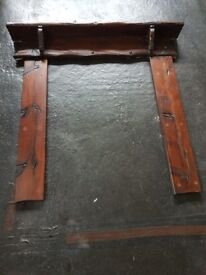 Vintage Carved Wooden fireplace surround