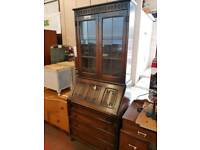 Vintage bureau with shelves