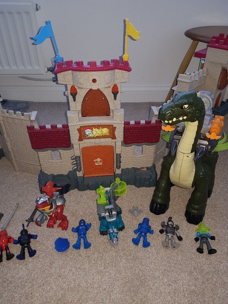 Imaginext Castle and dinosaur and knights