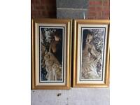 2 beautiful framed pictures