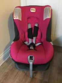 Britax pink car seat