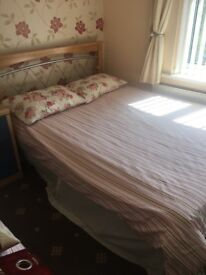 Double bed with frame and matress