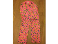 New Pink Minions Flannel Pyjamas for girl 9-10 years. 100% cotton.