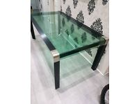 STUNNING GLASS DINING TABLE EXCELLENT CONDITION
