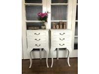 Pair bedside tables free delivery Ldn🇬🇧shabby chic French PROVENCE vintage