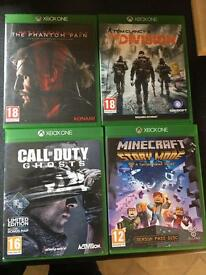 4 x Xbox one games for sale