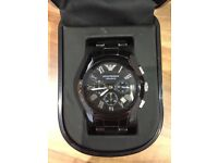 Mens Armani AR1400 Black Ceramic Watch