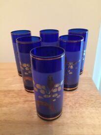6 dark blue glasses from Dubai