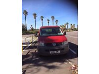 VW Transporter Campervan T5/T30 2004 1.9 TDI Diesel 104bhp Red superb condition 4 berth MOT & Taxed