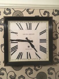 Laura ashley large wall clock blank casing with cream face . Immaculate