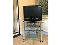 Bush HD 18 Inch television with a glass base