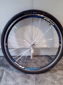 "New Mad Speed 26"", quick release wheels (front and rear) With Scwalbe City Jet 26x1.5 tyres."