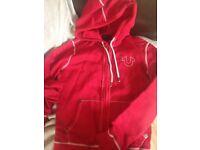 True religion hoodie / red