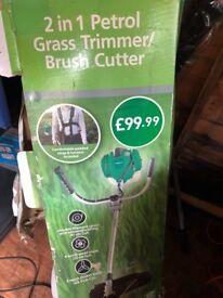 Brand new Gardenline 2 in 1 petrol grass trimmer/brush cutter