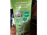 Brand new Gardenline 2 in 1 petrol grass trimmer/brush cutter