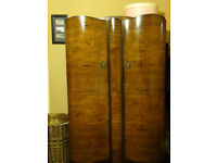 Gorgeous vintage double wardrobe - late deco - sturdy, clean and so stylish!
