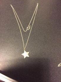Silver star necklace by Hultquist Jewellery