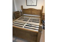 King size wooden bed frame, excellent condition