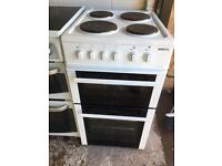 White Beko 50cm Electric Cooker Fully Working Order Vgc Just £75 Sittingbourne