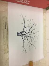 New Wedding finger print tree kit