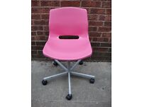 Ikea Office Desk Chair in Pink, Very Good Condition, Can Deliver