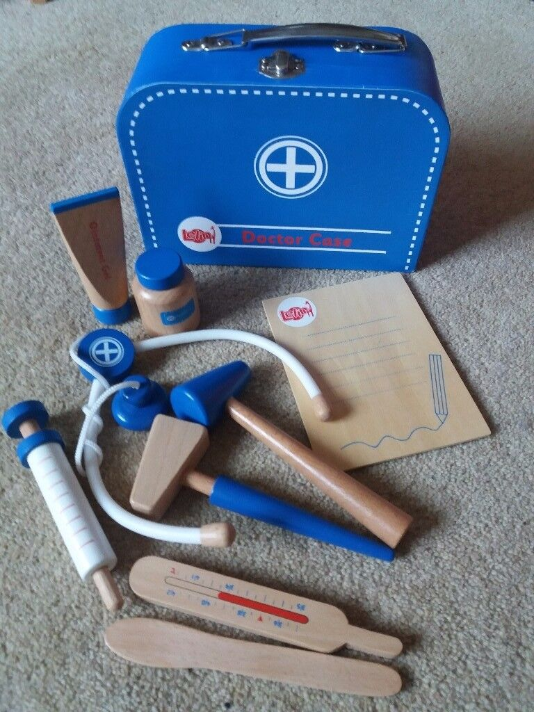 Child's Doctor's Set - wooden in lovely condition