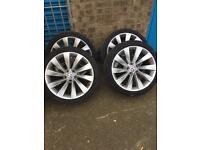 "VW Scirocco Alloys 18"" with tyres"