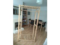 Wooden canvas wardrobe frame