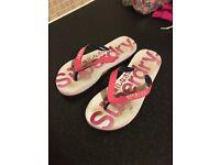 Ladies Superdry Flip Flops size medium 5-6
