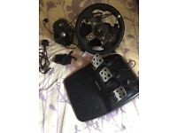 Logitech G920 Wheel With Pedals & Shifter (Xbox one & PC)