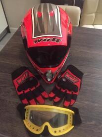 Motor cross helmet & accessories