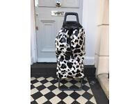 ROLSER COW PRINT SHOPPING TROLLEY